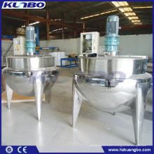 KUNBO 500 литров Промышленный Паровой рубашкой смешивания приготовления чайник с мешалкой