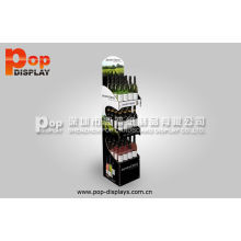 Durable Carton Beverage Display Racks For Advertisement , Oil Lamination