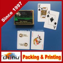 Рекламный покерный тип и бумажный материал Рекламные карточные игральные карты (430027)