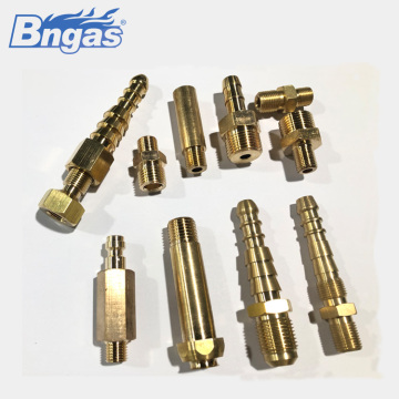 Natural gas hose brass connector intake nozzle connector