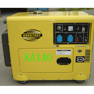 5kw Soundproof Diesel Generator Set KDE6700T Soundproof Generator