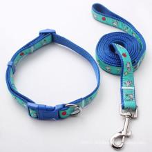 Acessórios personalizados para animais de estimação Leash Nylon Dog Pet Collar (HJ7120)