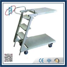 Стальная подвижная лестница для стеллажей