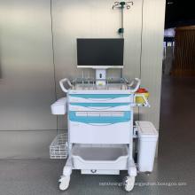 Hospital Mobile Nurse Workstation with Medication Cassette