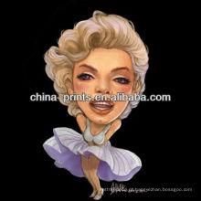 """Pintura """"sexy"""" da arte de Marilyn Monroe para a decoração"""