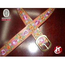 Lastest design leather belt embroidery designs needlepoint belt