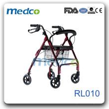 Deluxe Aluminum Rollator with castors RL010