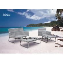 Alta qualidade PE rotim vime sofá definido bw-406