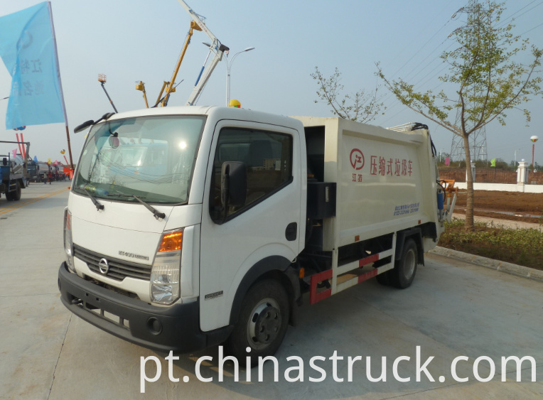 NISSAN compressed garbage truck