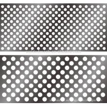 Chapa perforada, espesor 0.1-6mm, usada en la separación, tamizado, filtración, secado, enfriamiento