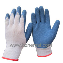 Thumb Fully Dipped Cotton Gloves Latex Coated Safety Work Glove
