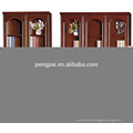 economic antique wooden bookcase with photos