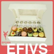 Caja de la torta de la taza de la alta calidad de Fashional para el paquete