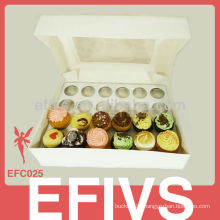 Fashional high quality cup cake box for package