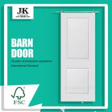 JHK-017-3 Modern Interior White Shaker Real Barn Door