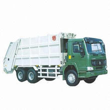 Garbage Compressed Refuse Truck 2.5m³ with Filler Volume, Pressure of Hydraulic System: 2MPa