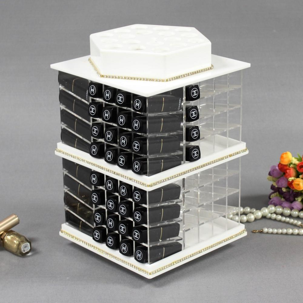 Rotating+Acrylic+Large+Lipstick+Organizer+Tower