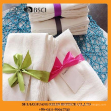 holiday gift 45*85cm dobby white cotton kitchen towels waffle with ribbon