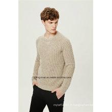 Nep Yarn Knit Pullover Men Sweater