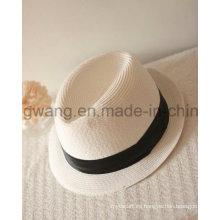 Sombrero de paja de los hombres al por mayor, verano gorra de beisbol