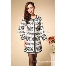 2016 Women's long sleeve coat female ethnic outwear casual embroidery Coat Dress