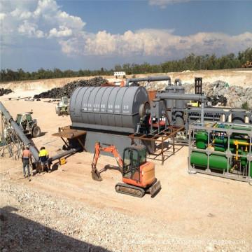 Equipo de secado de residuos de trabajo continuo con pirólisis