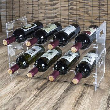 Estante de exhibición de botella de acrílico estante de exhibición de botella de vino