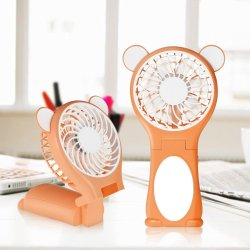 Handheld Table Foldable Mirror Cute Mini Fan