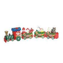 FQ marca família loja ornamento decoração presente de madeira trem de natal brinquedo
