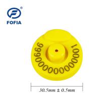 Etiqueta de oreja electrónica de cerdo Etiqueta LF para cría