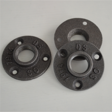 "3/4"" Malleable BSP Threaded Black Floor Flange"