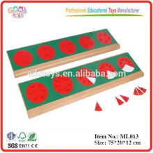 Montessori Sprache Materialien Holz Kleinkind Spielzeug Metall Fraktion Kreise mit Ständen