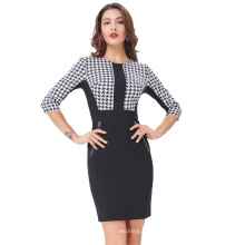 Kate Kasin Womens 3/4 Sleeve Optical Illusion Body con Dress Pencil Business Dress KK000222-1