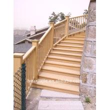 Wpc pavimento decking de madeira decking de plástico de madeira
