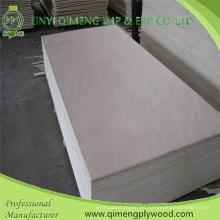 Dos veces caliente prensan madera contrachapada comercial de 15m m con la base del álamo