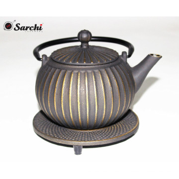 Wholesale Enamel Cast Iron Teapot with trivet