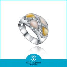 Classic Colorful Silver Sterling Shell Jewelry Ring (SH-0326R)
