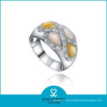Anel de prata esterlina colorido clássico da jóia de Shell (SH-0326R)