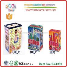 Juguete educativo de madera - 100 piezas de bloque de juguete