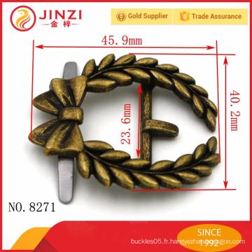 Style de boucles haute qualité et classique en alliage de zinc pour sacs