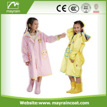 PU Kids Girls Cartoon Raincoats Rainsuit