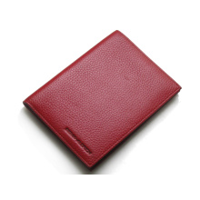 Red wine color passport wallet women ticket holder