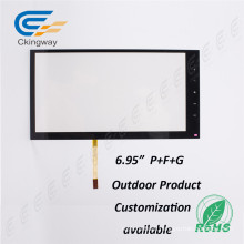 "6.95"" 4 Wire Resistive Infrared Multi Touch Screen Frame"