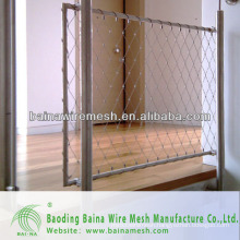 stainless steel wire rope mesh net for security mesh/stairs fence
