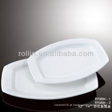 Louça de porcelana branca agradável durável cofre louça