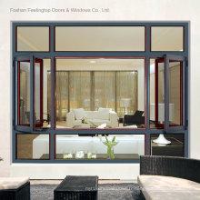 Fenêtre à battant en aluminium de luxe standard Australie (FT-W108)
