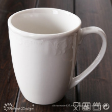 285ml de porcelana blanca con una taza clásica en relieve