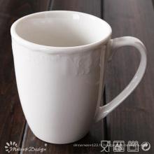 Porcelaine blanche 285ml avec tasse classique en relief