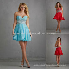 Special Occasions Prom Dress 2014 Sweetheart Backless Heavily Crystal Short A-Line Chiffon Party Gown Red Blue High-Class NB0694