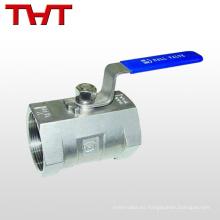 Válvula de bola de refrigeración de rosca de acero inoxidable